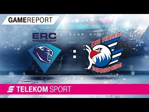 ERC Ingolstadt - Adler Mannheim   Viertelfinale, Spiel 1, 17/18   Telekom Sport