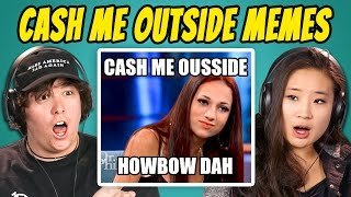 COLLEGE KIDS REACT TO CATCH ME OUTSIDE MEME COMPILATION (Cash Me Ousside How Bow Dah)