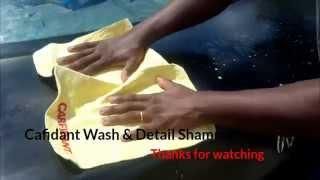Using the Carfidant Washing and Detailing Shammy Auto Cloth