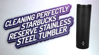 Best Tumbler Thermos Mug for caffe latte or messy drink: Starbucks Reserve Stainless Steel