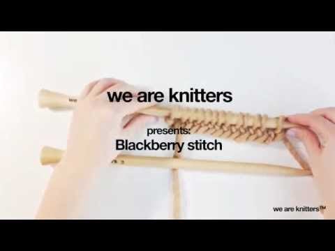 Strickmuster - Brombeermuster stricken | WE ARE KNITTERS - YouTube