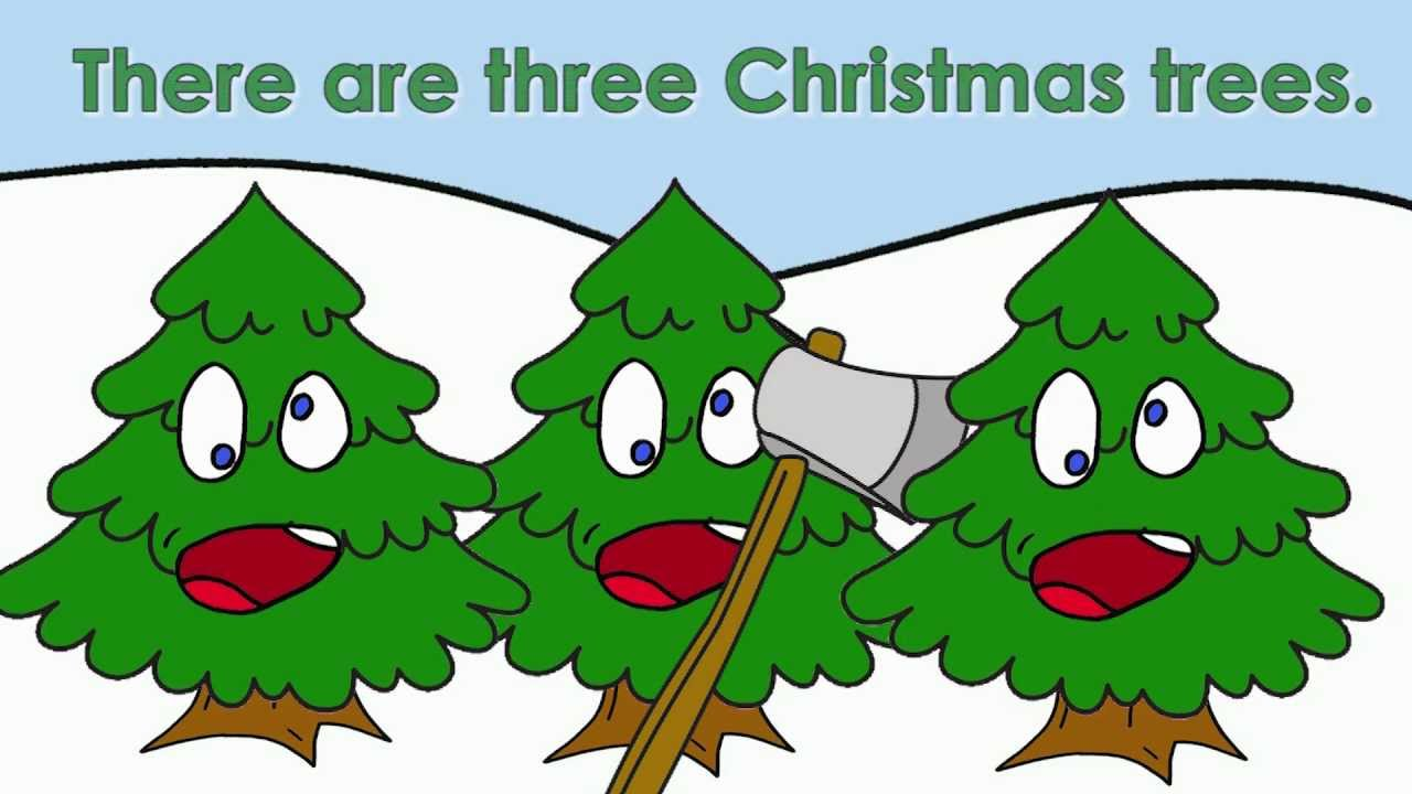 Three Christmas Trees | Christmas Songs for Kids - YouTube