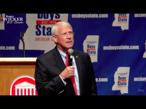 Senator Roger Wicker Speaks at Mississippi Boys State l Roger Wicker For Senate
