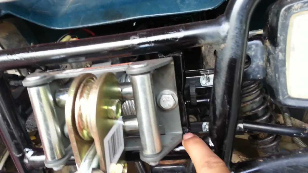 small resolution of atv winch and mount