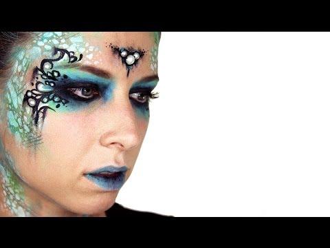 Dark Mermaid Face Painting | Ashlea Henson