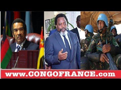 L'ONU, LE SADC CONTRE TROISIEME MANDAT DE KABILA , BAZO TINDA INTERVENTION MILITAIRE ?