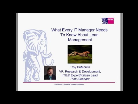 What Every IT Manager Needs To Know About Lean Management