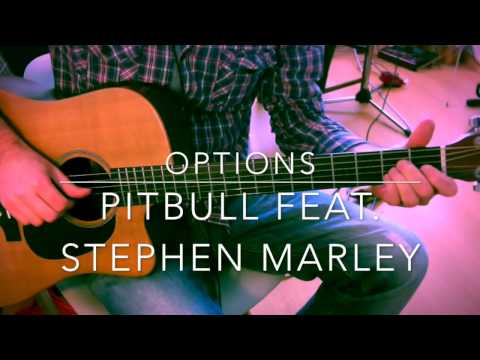 Options Pitbull feat. Stephen Marley guitar chords tutorial lesson