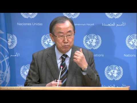Syria: Ban Ki moon, Geneva Conference on Syria   Press Conference   Jan 19, 2014