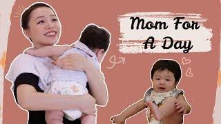 """🤰🏻Thử Thách """"Một Ngày"""" Làm Mẹ 🤱🏻 Being A Mom For A Day ❤️ TrinhPham"""
