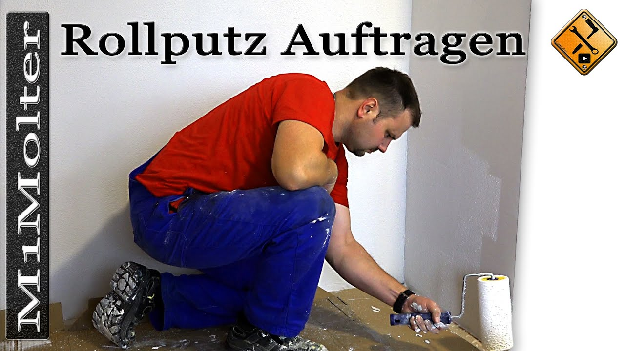 rollputz auftragen auf gipskarton basics von m1molter youtube. Black Bedroom Furniture Sets. Home Design Ideas