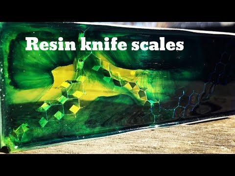 Resin knife scales