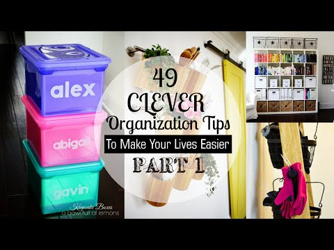 49 Clever Organizing Tips (Part 1)