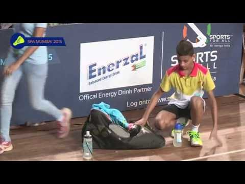 SFA Mumbai 2015   Badminton   Vaibhav Tewari Vs Udyat Jain   U13   Boys   Final