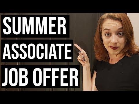 How To Get A Summer Associate Job Offer