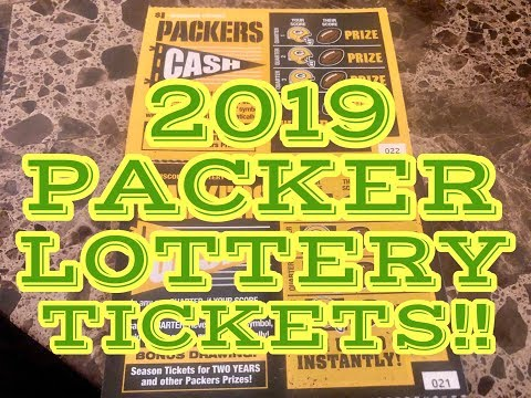 NEW 2019 $1 PACKER LOTTERY TICKETS!! JUST WOW! Wisconsin Lottery Scratch Offs!!