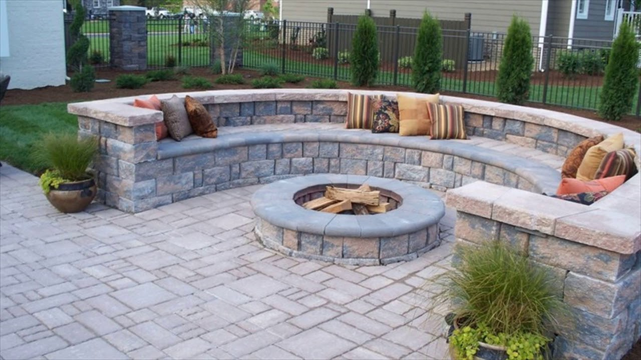 Patio Pavers Stone Ideas Designs - YouTube on Rock Patio Designs id=85761