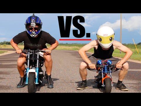 NOS POCKET BIKE VS. SUPER POCKET BIKE | RACE WARS