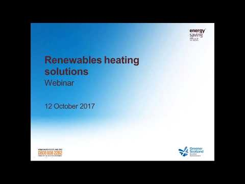 Webinar: Renewable Heating Solutions