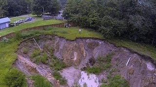 Backyard Disappears Into Sinkhole