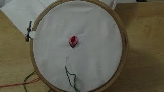 Hand Embroidery: Rose Bud Stitch