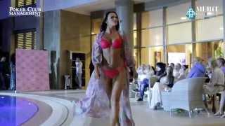 Показ купальников и платьев Agni на Mediterranean Poker Cup!