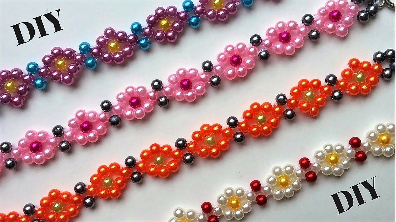 Diy Beaded Bracelets Beading Tutorial Easy Jewelry Making