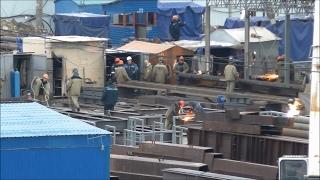 Строительство Керченского моста (февраль, 2017).