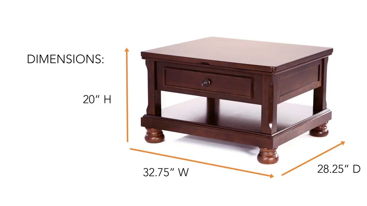 Porter Rectangular LiftTop Cocktail Table from Ashley YouTube