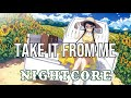 (NIGHTCORE) Take It From Me - Jordan Davis
