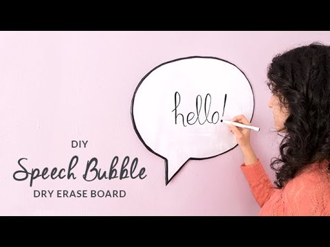 DIY Speech Bubble Dry Erase Board | Whiteboard | Curly Made