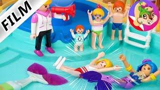 Playmobil Rodzina Wróblewskich | Zawody pływackie w Aquaparku - MAMA kontra SYRENY - kto wygra?