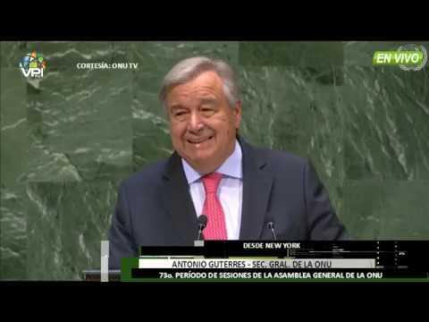 EE.UU - Sec. General de la ONU da inicio a la 73 sesión de Asamblea General- VPItv
