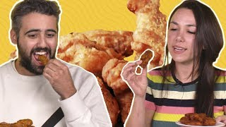 We Tried Buffalo Wild Wings' 16 Sauce Flavors (aka ALL OF THEM) 🍗👅  TASTE TEST Video