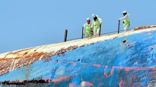 세월호 워킹타워 설치 중 운동화 한 족 발견…총 108…
