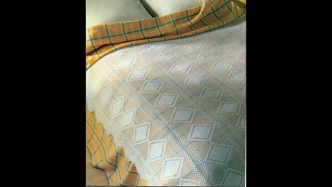 Patrón para tejer colcha escocia a crochet - YouTube