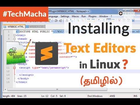 HTML5, CSS, JS - Installing Text Editors In Linux OS (Ubuntu) - (Tamil)(Tutorial)