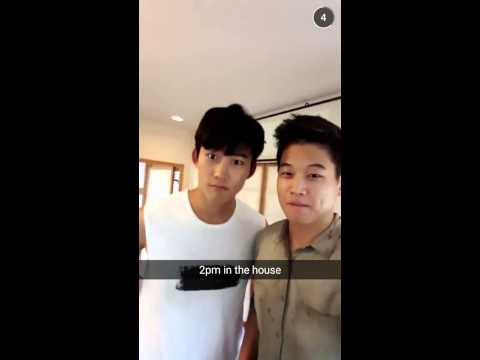 150904 Ki Hong Lee Snapchat Story Cut  Meeting 2PM