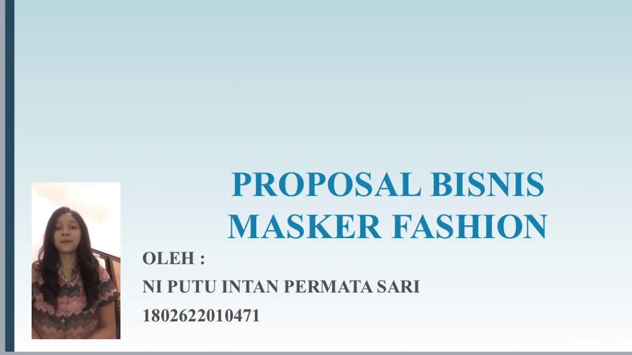 Kewirausahaan Proposal Masker Kain Fashion Cute766