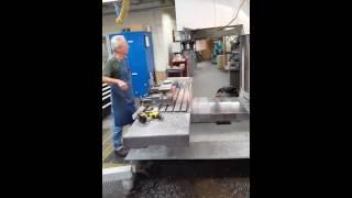 Heavy duty CNC machining down in physics machine shop