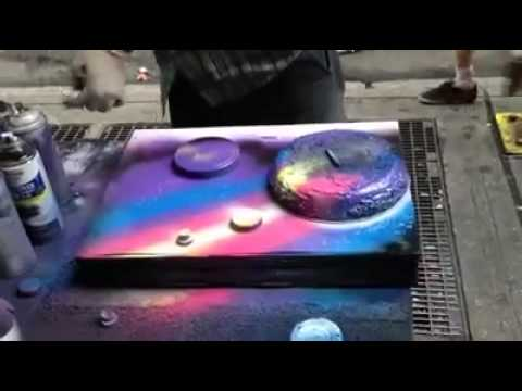 Spray Paint Art Techniques Youtube