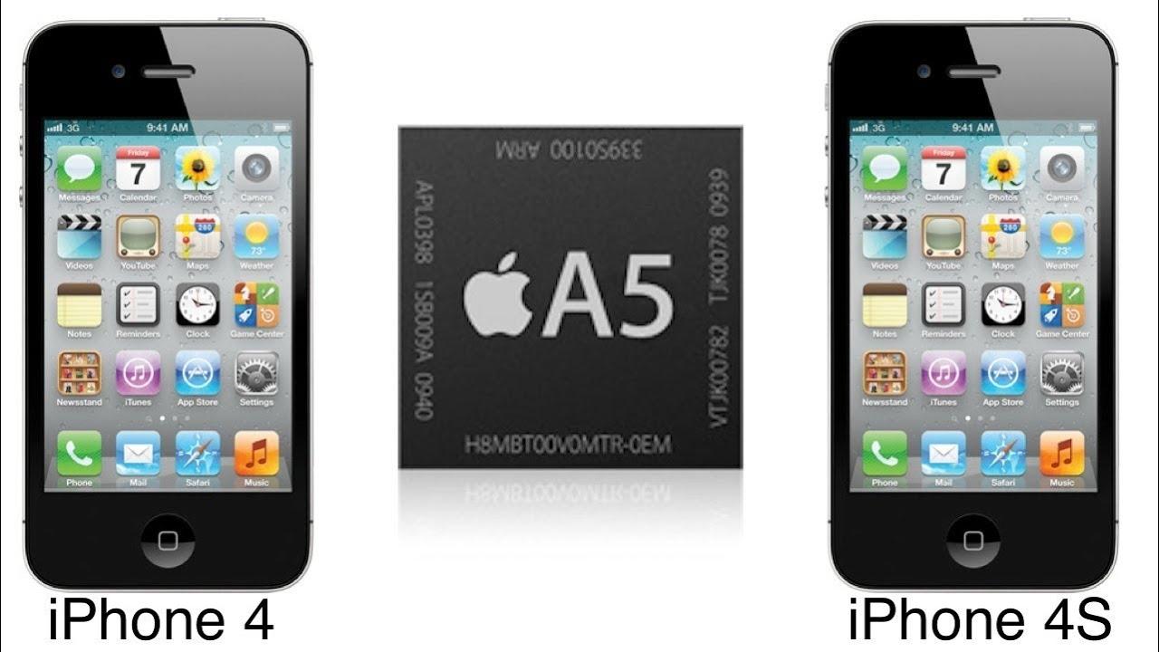 iphone 4 vs iphone 4s مقارنة