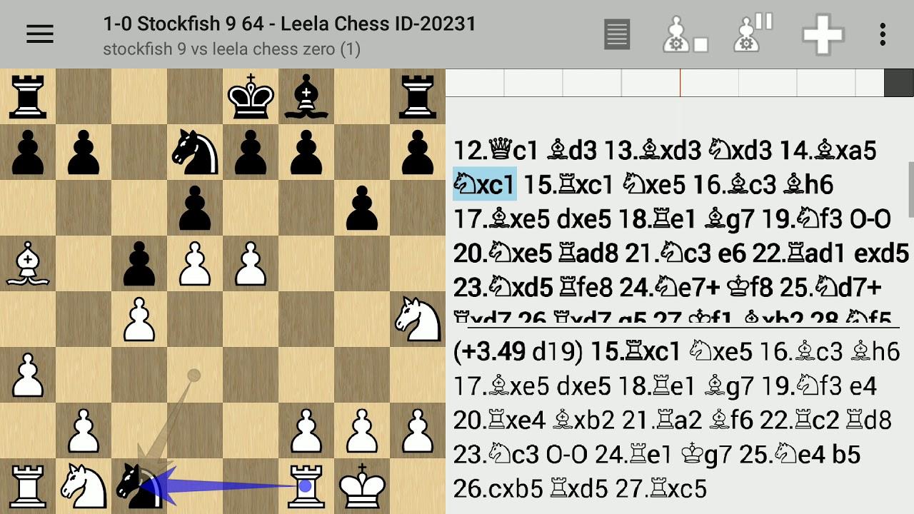 Stockfish 9 vs Leela Chess Zero