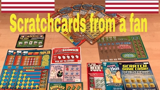 USA SCRATCHCARDS FROM A FAN