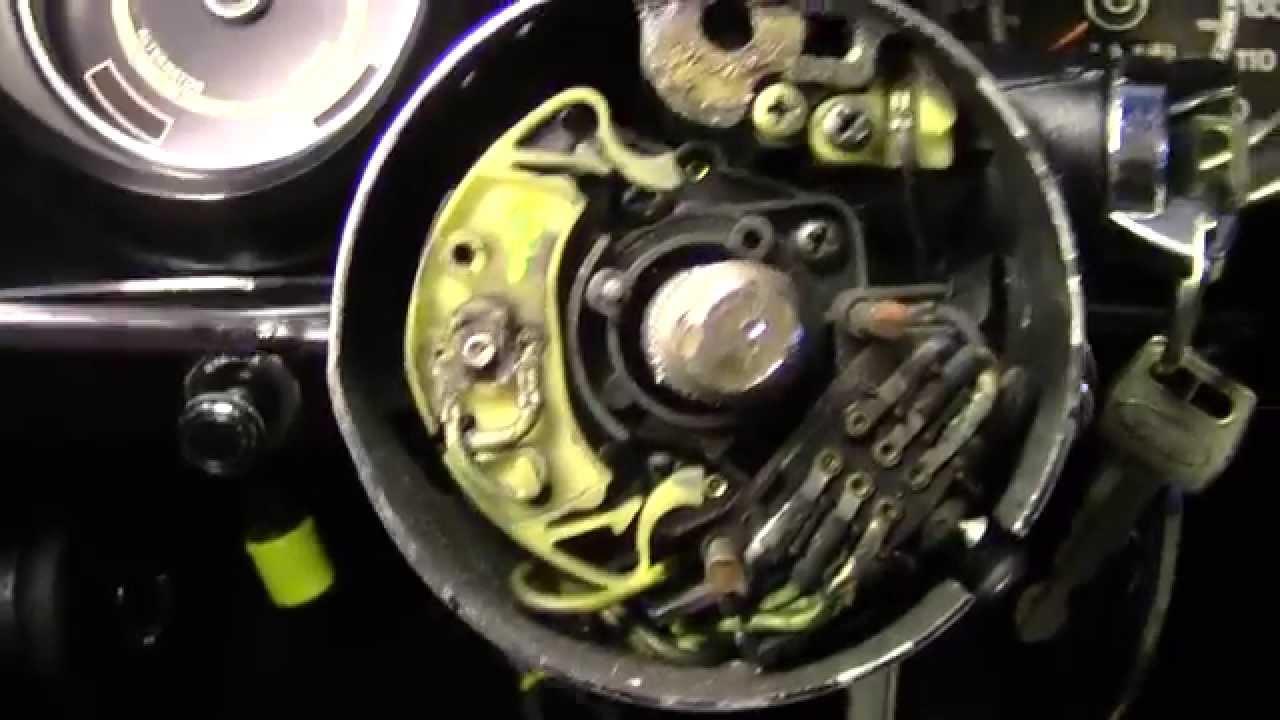 Turn Signal Switch Anatomy 7173 Mustang  YouTube