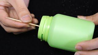 口香糖瓶子不要扔,在上面插一根牙签,一年能省不少钱,太实用了 thumbnail