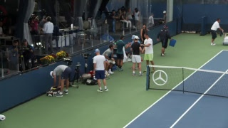live us open tennis 2017 roger federer practice