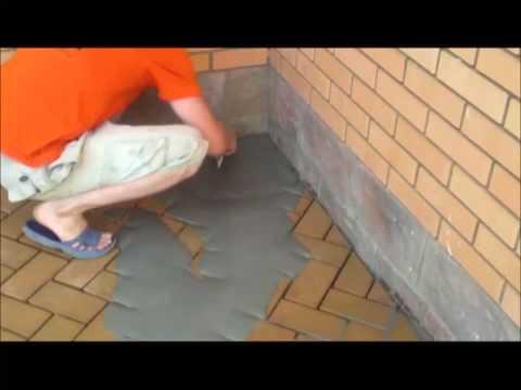 Монтаж клинкерной тротуарной плитки
