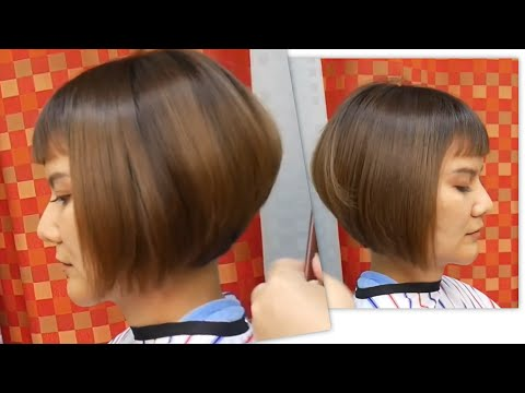 Sweet Bob haircut ตัดผมบ๊อบ ทุยทุย ปลายงุ้ม เห็นคอ