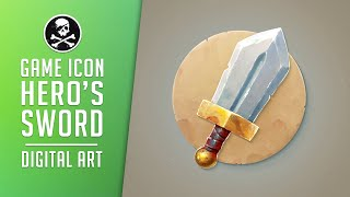 How to Draw For Games #16 | Hero's Sword Icon